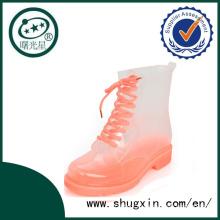 Прозрачный дождя сапоги женские Rainboots водонепроницаемый ходьбы обувь унисекс сапоги B-817