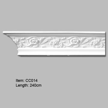 Decorative Crown Molding with Rosette design