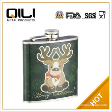Europe flag stainless steel hip flask hydro flask