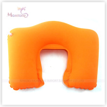 Promotional PVC Flocking Inflatable Neck Air Pillow 44X28cm