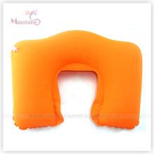 Travesseiro promocional de PVC inflável flocante de pescoço 44X28cm