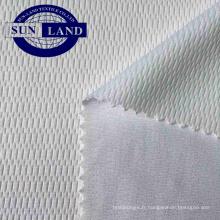 Tissu à mailles en polyester blanc pour l'impression