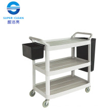 Large Dinner Trolley, Janitor Cart for Restaurant with Bucket