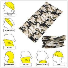 Werbeartikel Großhandel Polyester Mikrofaser Camouflage Sport Bandana Cap