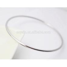 Simples em branco fino punho bracelete de aço inoxidável bracelete para mulheres e homens