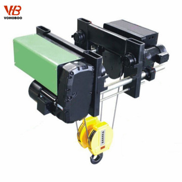 High quality Electric European Wire Rope Pulling Hoist with Trolley