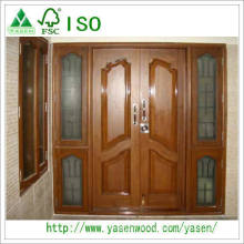 European Solid Teak Wood Entrance Door Design