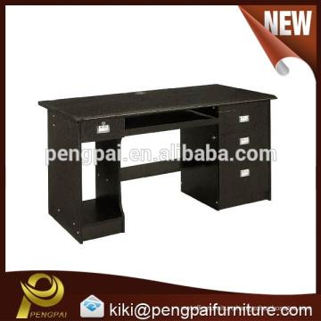 Black computer desk with drawer