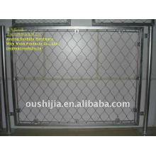 high tensile steel wire screen mesh/animal enclosures/zoo mesh/security screen stainless steel wire mesh