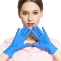 Disposable mixed nitrile inspection gloves