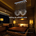 Modern Design Rectangular Rain Drop Factory Wholesale Small Crystal Chandelier Lamp