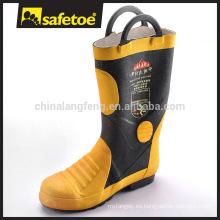 Botas de seguridad de goma de tacón alto con puntera de acero H-9018
