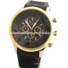 Mais recente !! Hot Selling preço barato promocional relógio de borracha esporte fino para o dia do dia dos Namorados