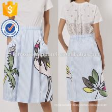 New Fashion Blue/White Striped Flamingo Summer Mini Daily Skirt DEM/DOM Manufacture Wholesale Fashion Women Apparel (TA5024S)
