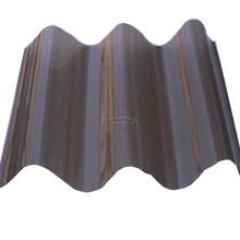 Folha ondulada de policarbonato para telhados transparentes