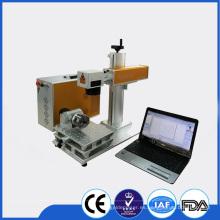 Rotary máquina de marcado láser / Grabadora de láser de fibra rotativa