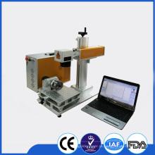 Máquina giratória da marcação do laser / gravador do laser da fibra giratória