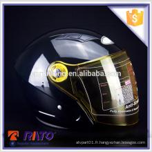 Couleur brillant ABS moto casque pleine grandeur grande vente