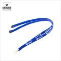 OEM высокого качества Новый дизайн Синий трубчатый шейный печатный ремень с карабином