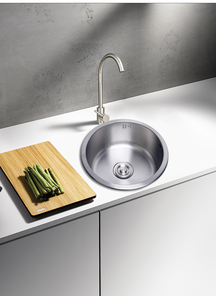 Kitchen Stainless Steel Large Round Sink