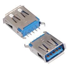 Af Female Type 180 graus com 9 pinos conector USB 3.0