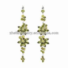 stylish earrings young leafs girls latest model fashion long earrings