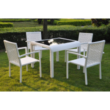 Outdoor / Jardim SGS PE rattan Dining Set Furniture