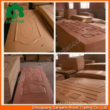Nature Teck / Ash / Sapele / Hêtre / Bois de placage de porte en bois