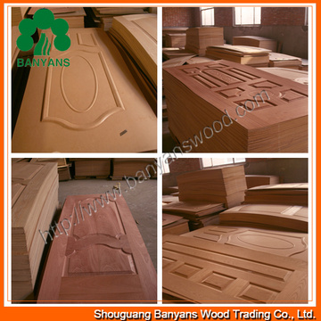 Nature Ash Veneer HDF Door Skin From China Manufacturer