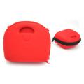 Kit de premiers secours de stockage en plastique portable étui rouge dur EVA avec poignées en caoutchouc