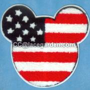 Diseño clásico de Mickey Mouse Chenille\Chain bordado Seri