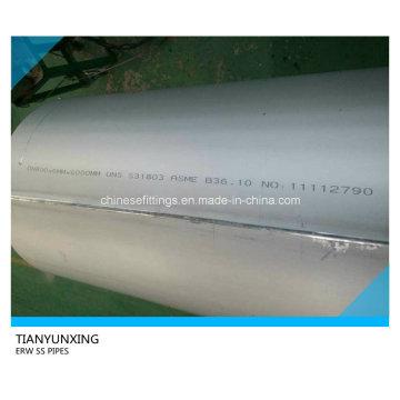 Tuberías de acero inoxidable soldadas Asme B36.10 Dn800 ERW
