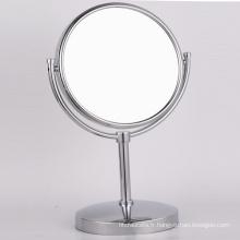 Miroir de rasage de maquillage de support de table en cuivre avec loupe pour salle de bain