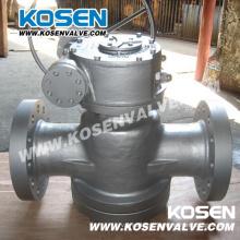 Engrenagem de sem-fim lubrificado de equilíbrio de pressão invertido Plug válvulas