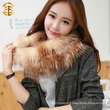 Bulk Sale Plain Color Sheared Red Fox Fur Neck Scarf