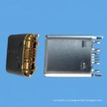 Мужской C Type SMT Connector USB 3.1 для компьютера, телефона
