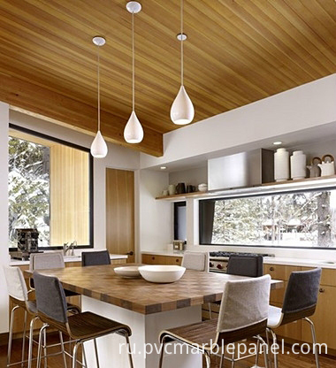 wood grain PVC ceiling