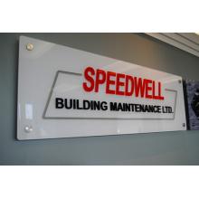 Panneau acrylique de signe de réception fait sur commande