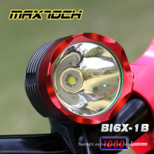 Maxtoch BI6X-1B 1000 lúmenes XML T6 4 * 18650 Pack CREE Aluminium Bicycle Light Led