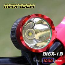 Maxtoch BI6X-1B 1000 lumens XML T6 4 * 18650 Pack lumière en aluminium de vélo CREE Led