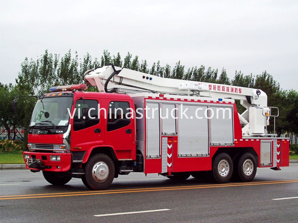 Isuzu Rescue And Break Fire Truck