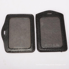 Soft pu leather ID card holder for staff