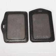 Мягкий кожаный держатель ID-карты