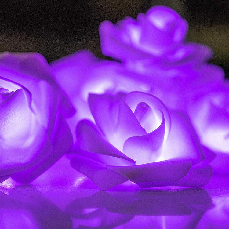 rose flower ce rohs led string light