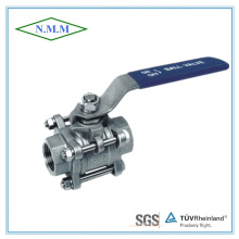 3PC Stainless Steel Full Bore DIN Ball Valve