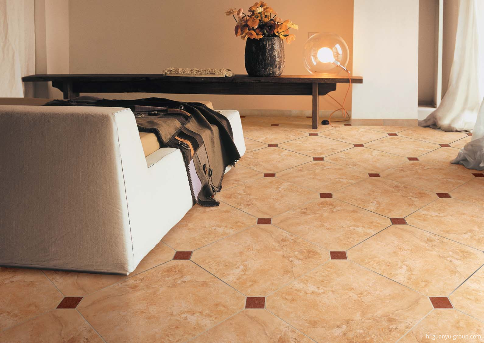 Travertine Style Matt Finish Porcelain Tile