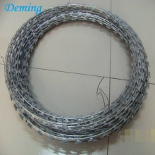 Pabrik Hot Dip Galvanized Razor Concertina Barbed Wire dijual