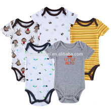 Младенческой малыша боди комбинезон с коротким рукавом комбинезон одежда