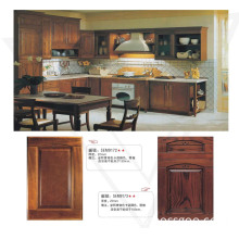 Red Oak Solid Wood Kitchen Cabinets Doors with Plywood Cabinet Box