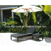 Outdoor Beach Furniture Chaise longue en mousse en rotin (L638; L638-ST)